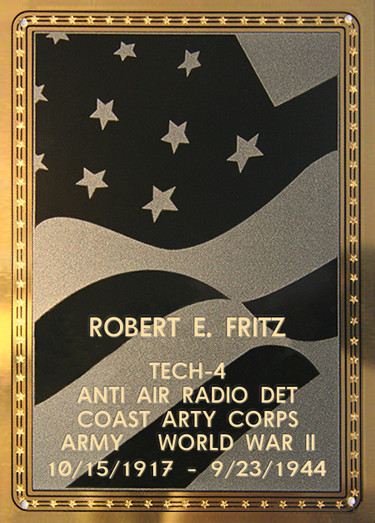 Robert E. Fritz Plaque