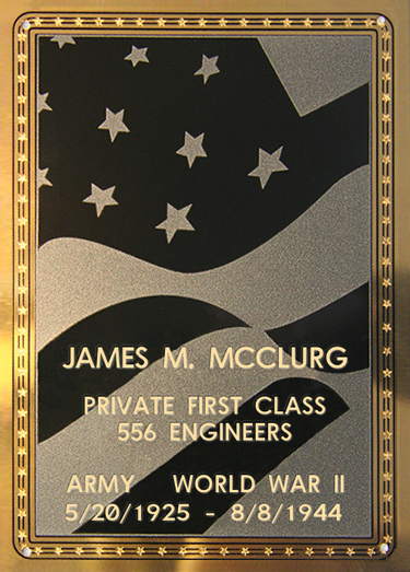James M. Mcclurg Plaque