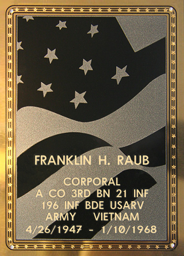 Franklin H. Raub Plaque
