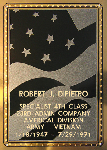 Robert J. DiPietro Plaque