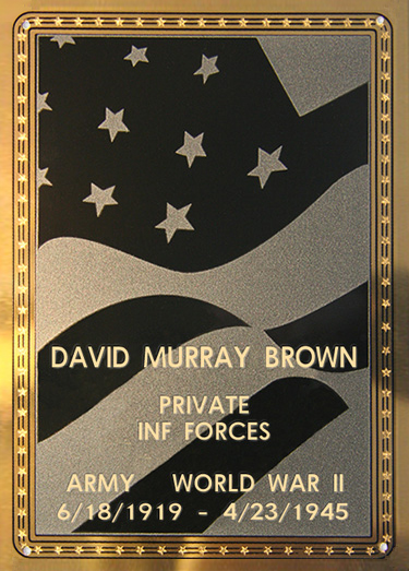 David M. Brown Plaque